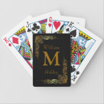 "Elegant Customized Monogrammed Playing Cards<br><div class=""desc"">Elegant Customized Monogrammed Playing Cards - Personalized playing cards to add some fun and personal style to your favorite card games.</div>"