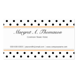 Elegant, cute,  classic B&W polka dots busines Double-Sided Standard Business Cards (Pack Of 100)