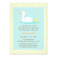 Zig zag invitations announcements zazzle elegant cute duck chevron baby shower invitations stopboris Choice Image