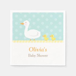 Elegant Cute Duck Twins Baby Shower Party Supplies Napkin