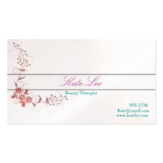 Elegant cute Flourish business cards