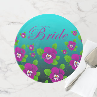 Elegant Cute Girly Floral Bride Cake Stand