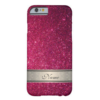 Elegant cute girly trendy glittery personalized barely there iPhone 6 case