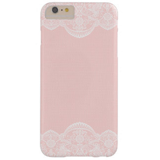 Elegant Cute Pink Floral Lace Girly Barely There iPhone 6 Plus Case