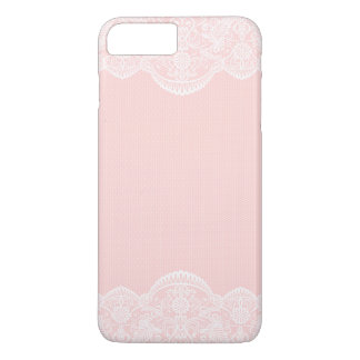 Elegant Cute Pink Floral Lace Girly iPhone 7 Plus Case
