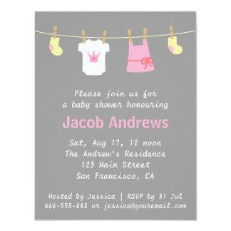 "Elegant Cute Princes Baby Girl Shower Invitations 4.25"" X 5.5"" Invitation Card"