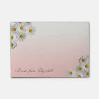 Elegant Cute Stylish Girly , Chamomole  Flowers Post-it Notes