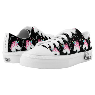 elegant cute unicorns emoji Low-Top sneakers