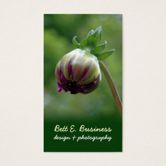 Elegant Dahlia Bud Business Card