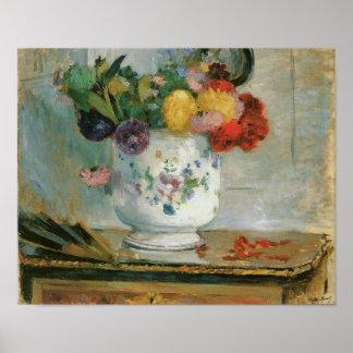 Elegant Dahlia Flowers Artistic Print