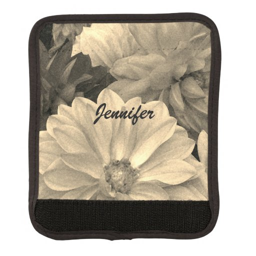 Elegant Dahlia Garden Flowers Luggage Handle Wrap