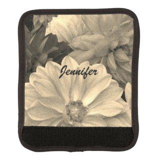 Elegant Dahlia Garden Flowers Luggage Handle Wrap