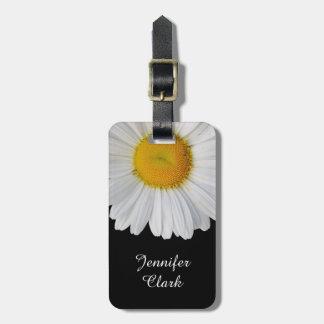 Elegant Daisy Custom Luggage Tag