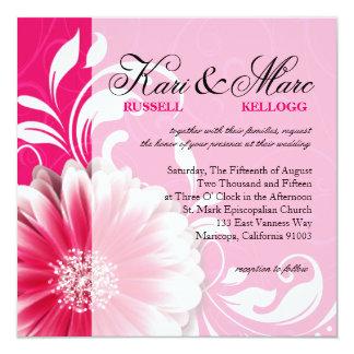 Elegant Daisy Scroll Flourish | fuchsia Card