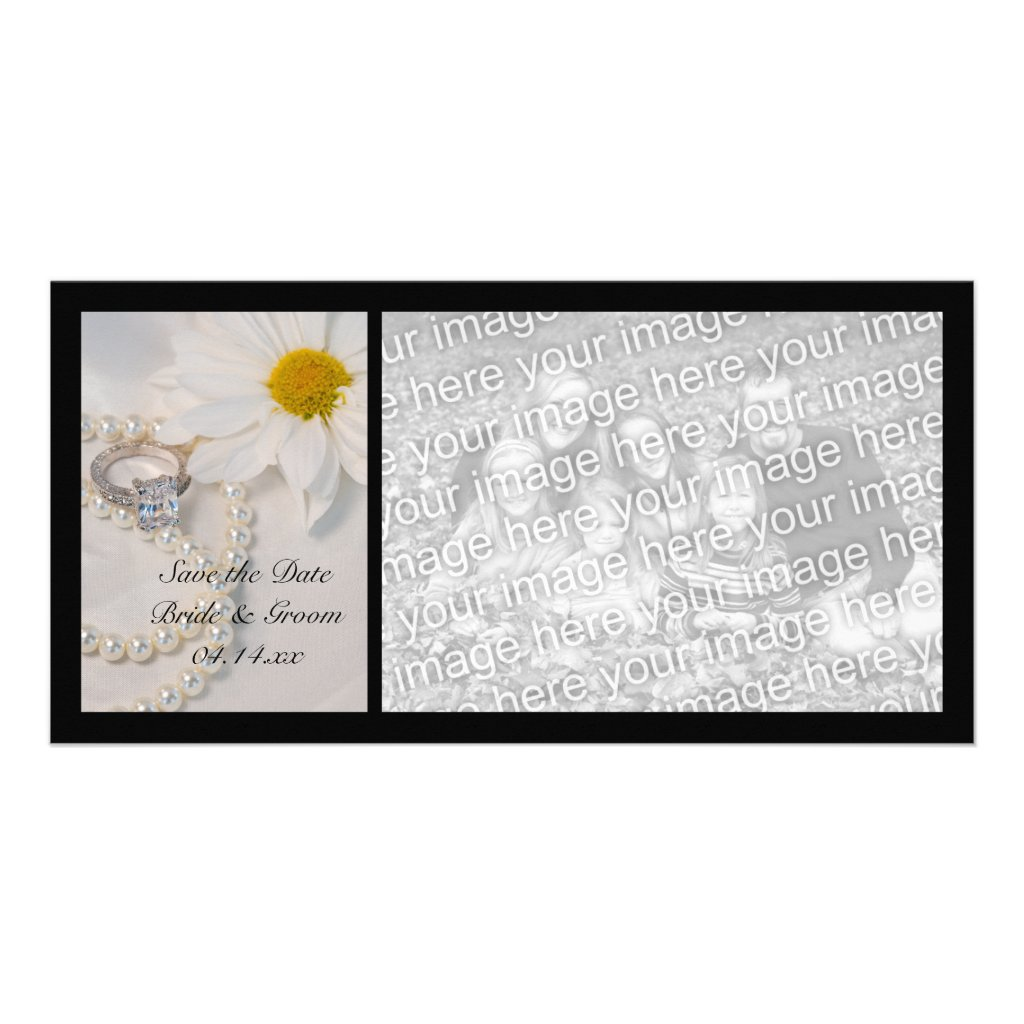 Elegant Daisy Wedding Save the Date Photo Card 10 cards.