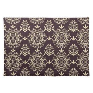 Elegant Damask (4) Cloth Place Mat