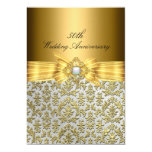 Elegant Damask 50th Wedding Anniversary Invite