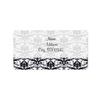 Elegant Damask Address label