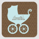 Elegant Damask and Baby Carriage Stickers