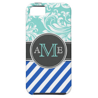 Elegant Damask and Stripes iPhone SE/5/5s Case