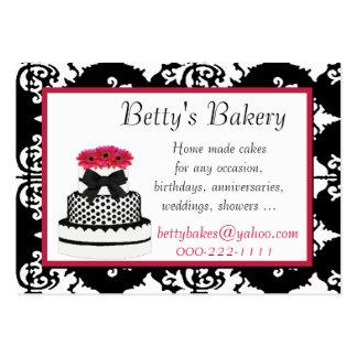 Elegant Damask Bakery Business Card