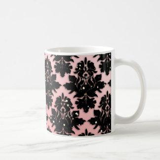 Elegant Damask Black Glitter Mug