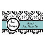 Elegant Damask Blue Mommy Calling Cards Business Card Templates