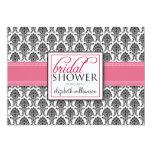"Elegant Damask Bridal Shower Invitation (rose) 5"" X 7"" Invitation Card"