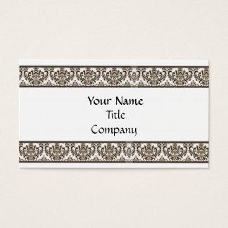 Elegant Damask Business Card Template