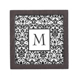 Elegant damask calligraphy design gift box