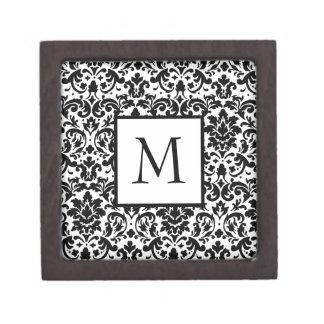 Elegant damask calligraphy design gift box