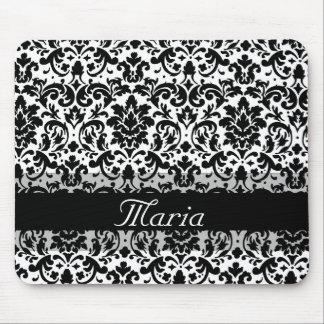 Elegant damask calligraphy design mouse pad