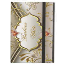 Elegant Damask Caramel Cream Beige Gold Amber 2 iPad Air Cover