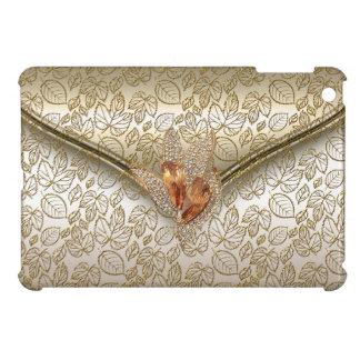 Elegant Damask Caramel Cream Beige Gold Amber Case For The iPad Mini