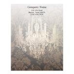 elegant damask chandelier Interior Designer Letterhead