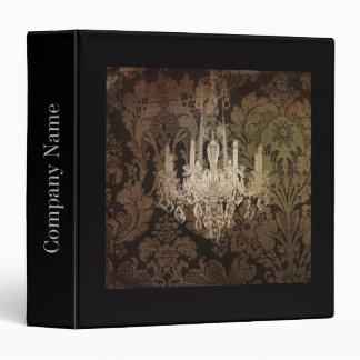 elegant damask chandelier vintage promotional 3 ring binder