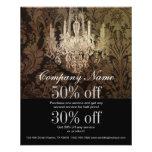 elegant damask chandelier vintage promotional flyer