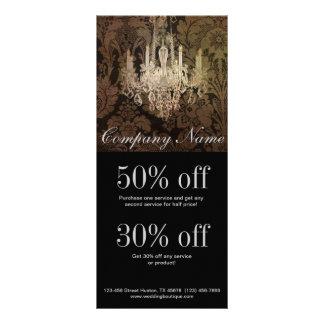 elegant damask chandelier vintage promotional custom rack card