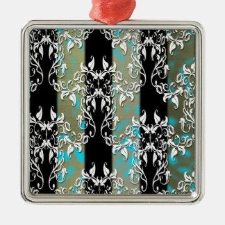 Elegant Damask Christmas Ornaments