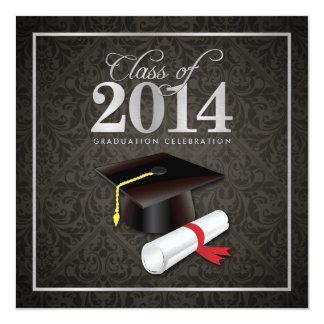 Elegant Damask Class of 2014 Graduation Card