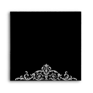 Elegant Damask Custom Envelope