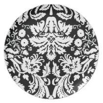 elegant damask dinner plate