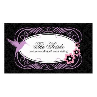 Elegant Damask Event Coordinator Business Cards
