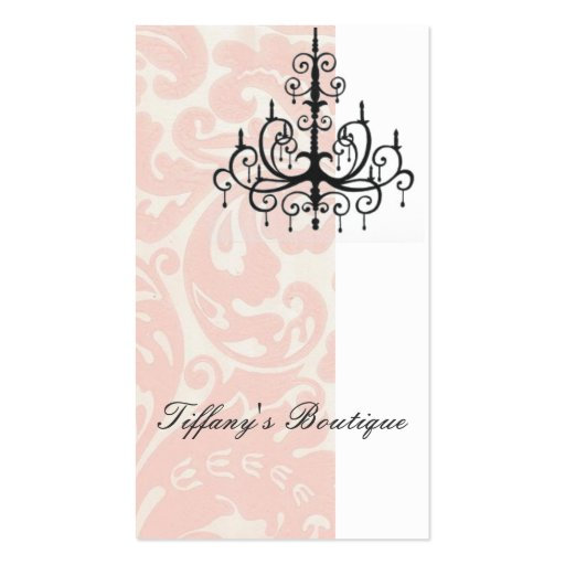 Elegant Damask Fashion Boutique Business Card