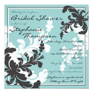 Elegant Damask Floral Bridal Shower Invitation