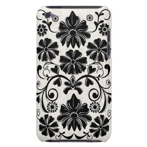 Elegant damask floral iPod touch speck case Barely There iPod Cover