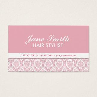Elegant Damask Floral Pattern Cosmetologist Salon Business Card