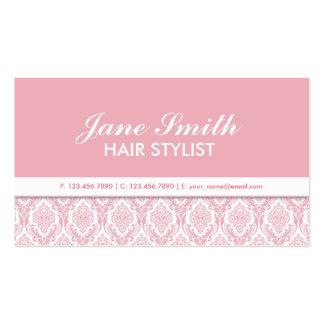 Elegant Damask Floral Pattern Cosmetologist Salon Business Cards