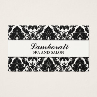 Elegant Damask Floral Pattern Cream Modern Stylish Business Card
