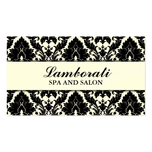 Elegant Damask Floral Pattern Cream Modern Stylish Double-sided Standard Business Cards (pack Of 100)